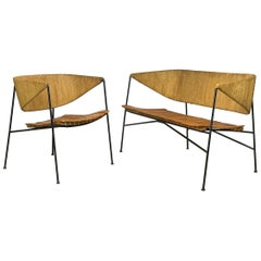 Lounge Chair and Settee Loveseat by Arthur Umanoff for Shaver Howard & Raymor