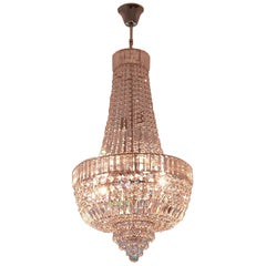 Art Deco Crystal Chandelier Empire Sac a Pearl Palace Lamp Chateau Lustre