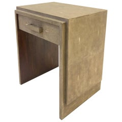 French Shagreen and Mahogany Side Table by R&Y Augousti