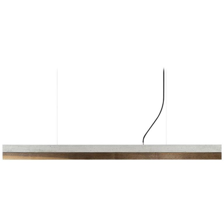 Minimal Nut and Light Concrete Pendant Light, Medium Contemporary Table Light For Sale