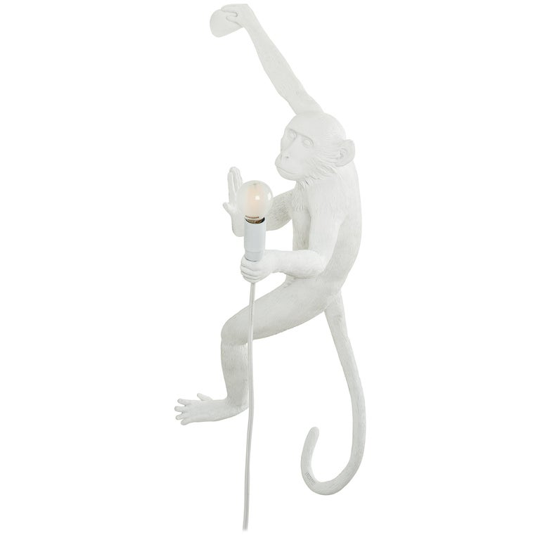"""Seletti """"Outdoor White Hanging Monkey Lamp"""", Resin Lamp, Right Hand #5 For Sale"""