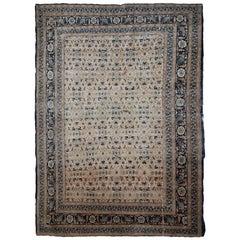 Handmade Antique Tabriz Hajalili Style Rug, 1880s, 1B693