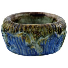 Møller & Bøgely, Art Nouveau Pottery Bowl of Glazed Ceramics, circa 1920s