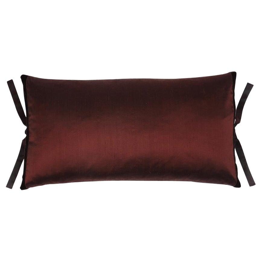 Silk Dupioni Throw Pillow Chocolate