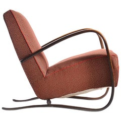 H269 Armchair by Jindrich Halabala in Original Upholstery, Up Zavody, circa 1930