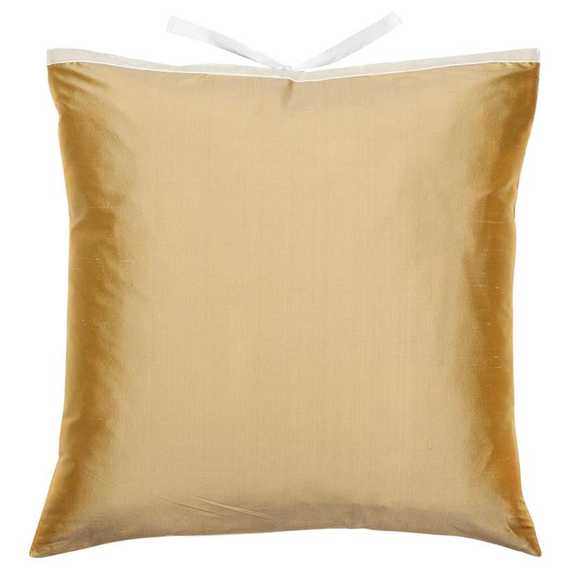 Silk Dupioni Throw Pillow Butter