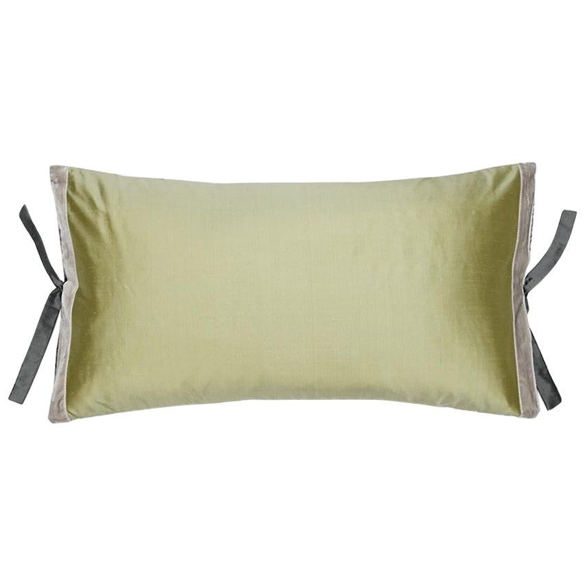 Silk Dupioni Throw Pillow Celery