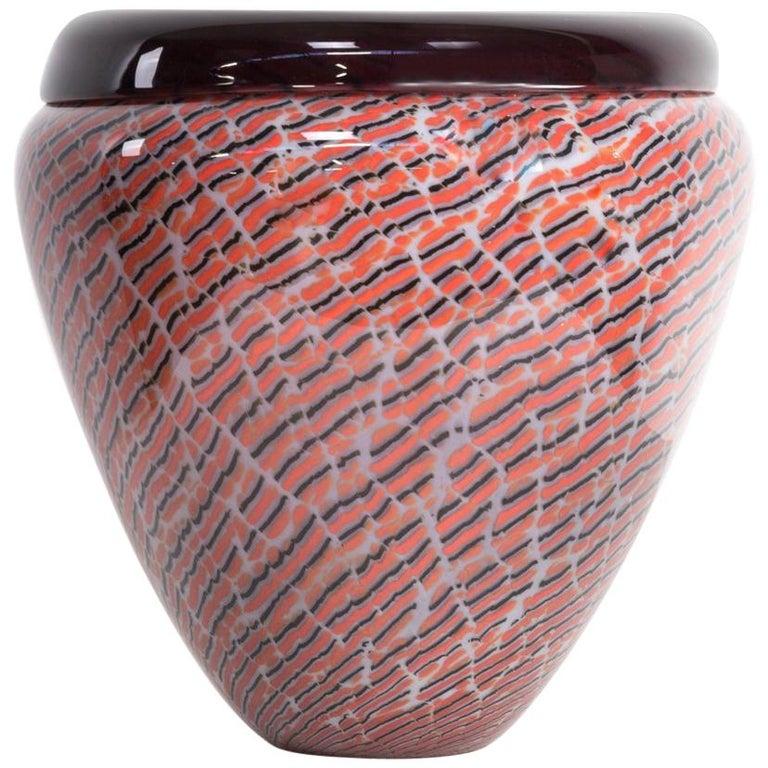 Beautiful Murano Glass Vase for Seguso For Sale