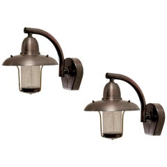 Pair of Outdoor Wall Lights in Copper by Westal, 1980s