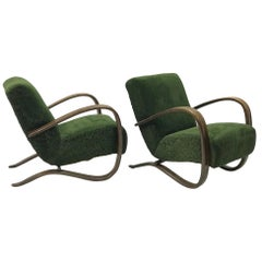 "Pair of Armchairs by J. Halabala model H-269, ""1950"""