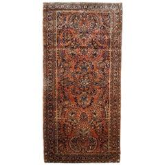 Handmade Antique Sarouk Style Rug, 1920s, 1B696