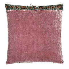Silk Velvet Throw Pillow Mauve Mist