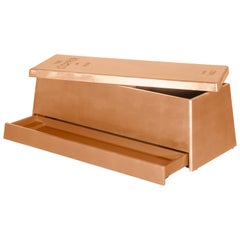 Toy Box in Wood with Copper Finish