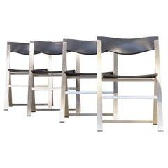 1990s, Justus Kolberg 'P08' Folding Chair for Tecno Set of 4