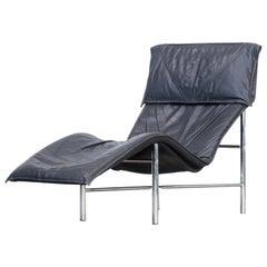 1980s Tord Björklund 'Skye' Chaisse Longue Chair Leather
