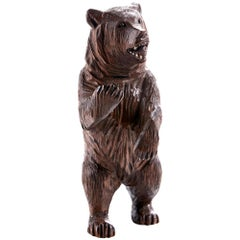 Antique Black Forest Carved Bear, circa 1900
