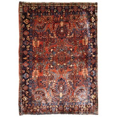 Handmade antique Sarouk style rug, 1920s, 1B697