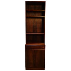 Danish Cabinet or Bookcase in Rosewood Made by O. Bank Larsen Møbelfabrik, 1960s