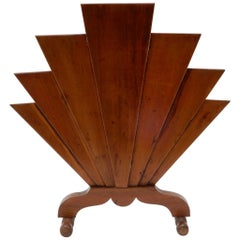 French Art Deco Wooden Fire Screen