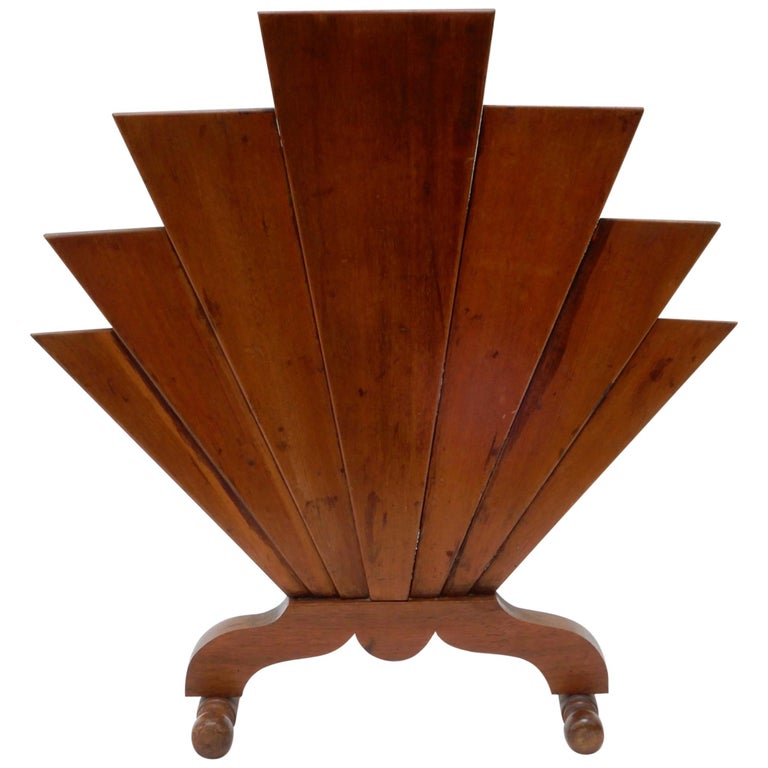 French Art Deco Wooden Fire Screen For Sale