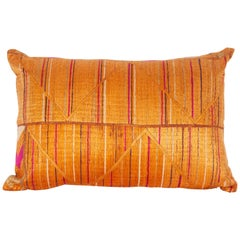 Pillow Case Fashioned from a Phulkari 'Wedding Shawl' from India, 20th Century