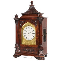 Late Georgian Mahogany Musical Table Clock