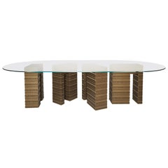 Fortis Dining Table - Two Bases and Round
