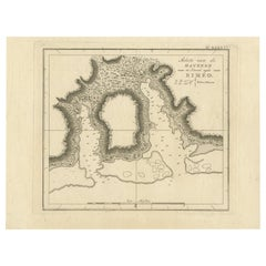 Antique Map of the Harbour of Taloo by J. Cook, 1803