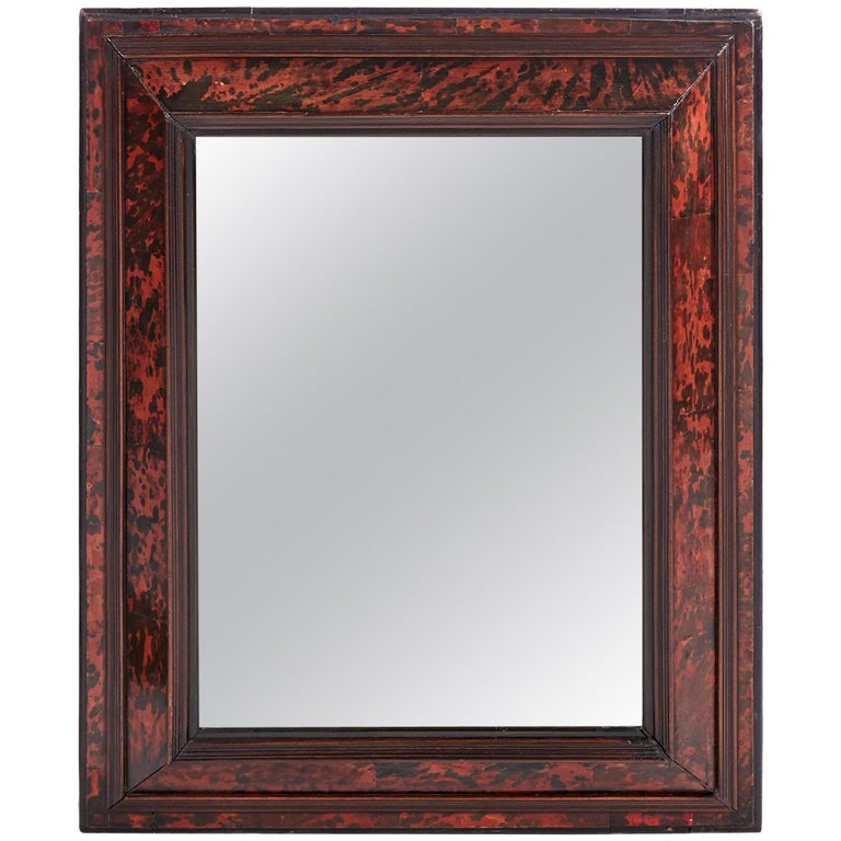 f5ff46f5031 18th Century Antique Tortoise Shell Wall Mirror For Sale at 1stdibs