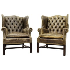 2 Chesterfield Armchair Armchair Wing Chair Antique Chair