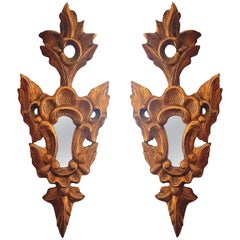 Pair of Giltwood French Neoclassical, Small Wall Mirrors, circa 1920s