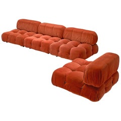 Mario Bellini 'Camaleonda' Orange Modular Sofa