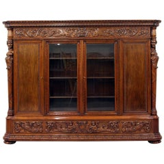 Herrenzimmer Cupboard Bookcase Antique Table Showcase Figurines