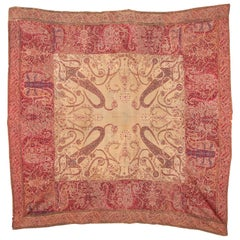 Antique Kashmir Shawl from India, 19th Century