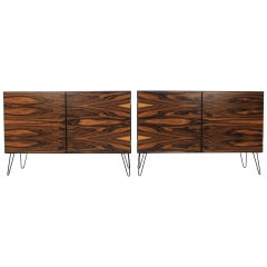 1960 Omann Jun, Upcycled Palisander Sideboard, Set of 2