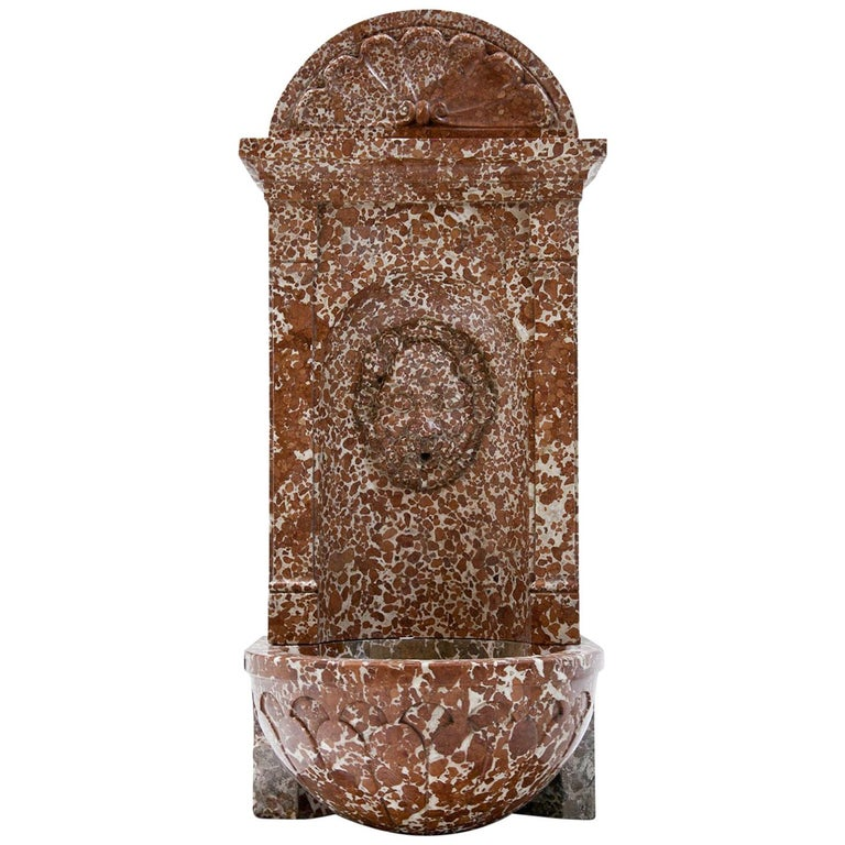 Wall Fountain out of Adnet Marble, 19th Century For Sale