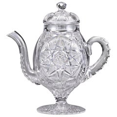 American Brilliant Cut Glass Coffee Pot by Meridan