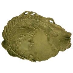 Kossowsky Polish Art Nouveau Bronze Tray, 1890s