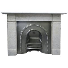 Fully Restored Victorian Carrara Marble Fire Surround