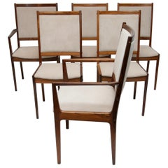Set of 6 Danish Modern Rosewood Chairs by Bernhard Pedersen