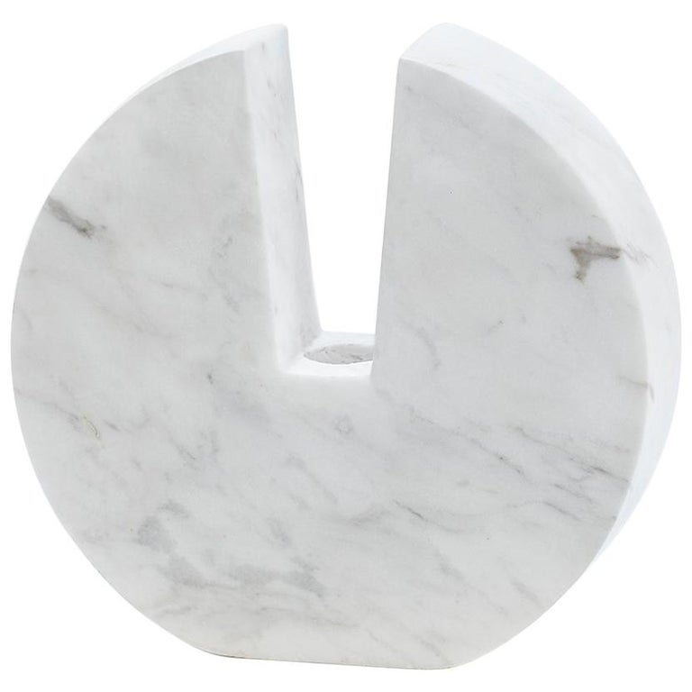 """Contemporary Handcrafted Candle Holder """"Τhryallis"""" in Marble, 1stdibs New York For Sale"""