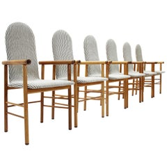 Italian Midcentury Dining Chair, 1970s, Set of 6