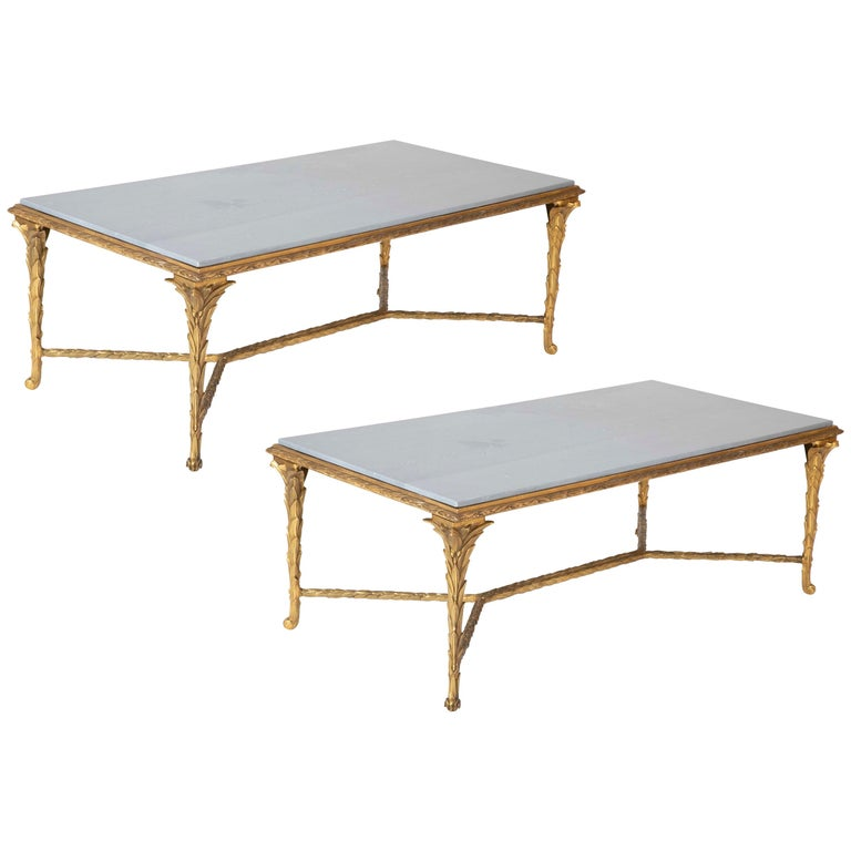 Pair of Bronze Maison Charles Coffee Tables For Sale