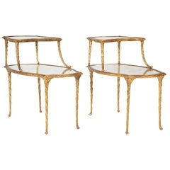 Pair of Bronze Maison Charles Side Tables