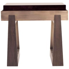 Bridge Side Table - Oak & Walnut - Size I