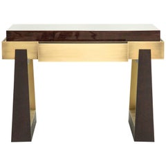 Bridge Bedside Table - High Gloss Timber - With Drawer