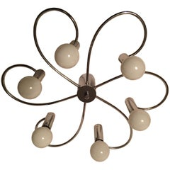 Six Light Flush Mount Ceiling Lamp Sciolari Style by Cosack, Germany