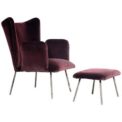 Martin Eisler & Carlo Hauner, Pair of Armchairs with Ottomans, Brazil, 1950s