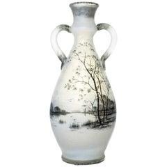 Daum Opalescent Dutch Landscape Vase