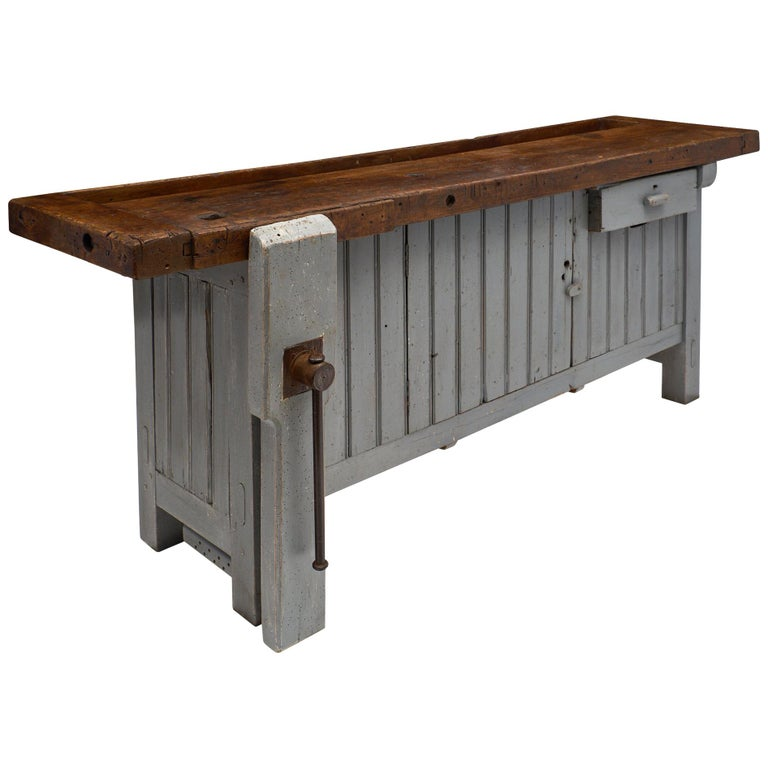 'Ski Crafting' French Antique Workbench For Sale